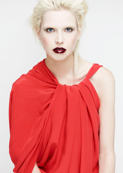 La Petite S***** SS12 bright coral silk crepe dress