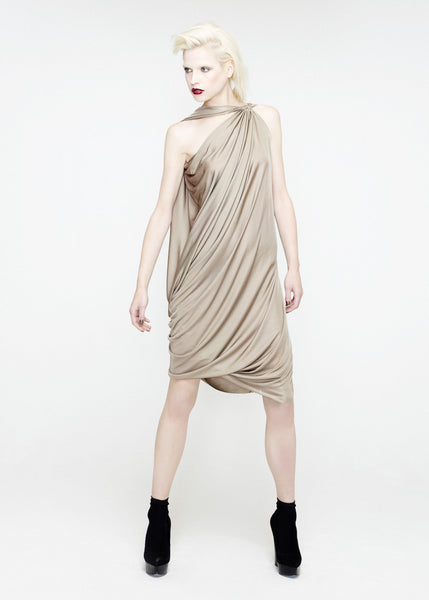La Petite S***** SS12 asymmetric draped jersey dress