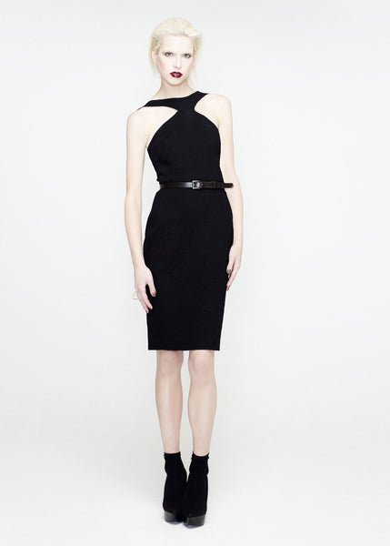 La Petite S***** SS12 racer neck black dress