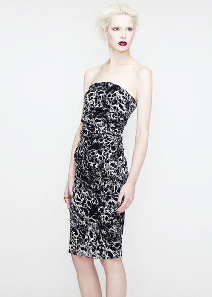 Black and white print bandeau dress La Petite S***** SS12