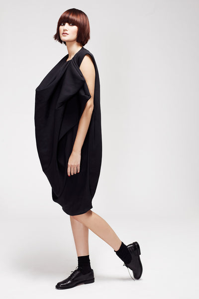 La Petite S***** AW12 black silk crepe sack dress