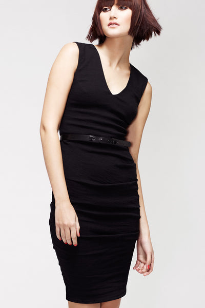 La Petite S***** SS13 black v neck vest dress