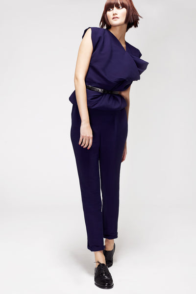 La Petite S***** SS13 indigo silk crepe top and trousers