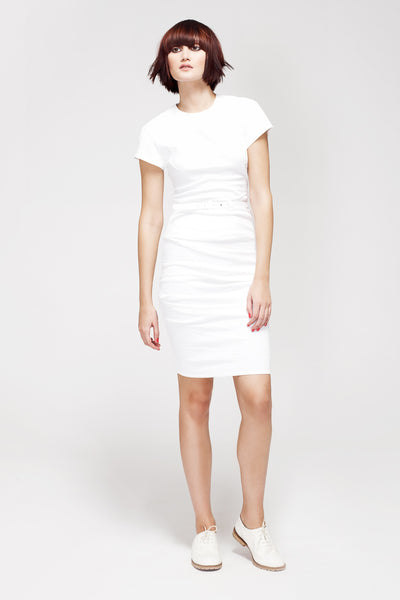 La Petite S***** SS13 white cap sleeve linen dress