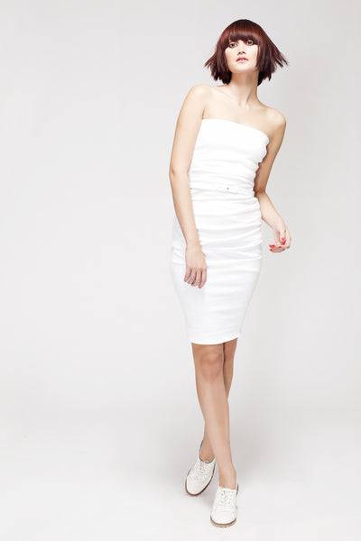 La Petite S***** SS13 white bandeau dress