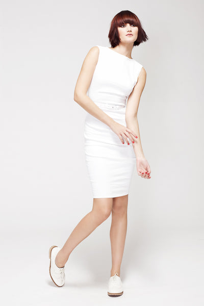 La Petite S***** SS13 white linen vest dress