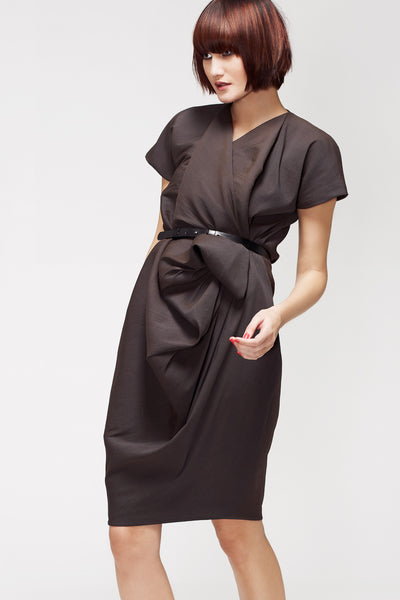 La Petite S***** SS13 silk crepe ruffle dress