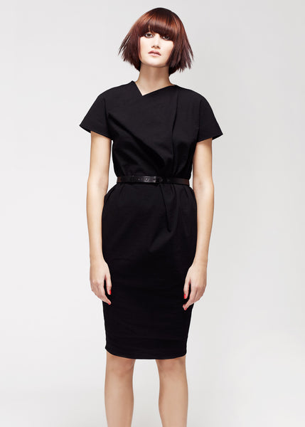 La Petite S***** SS13 black linen shift dress