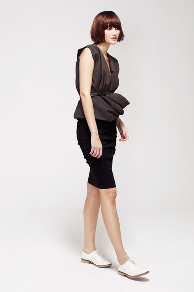 La Petite S***** SS13 silk crepe top and linen skirt
