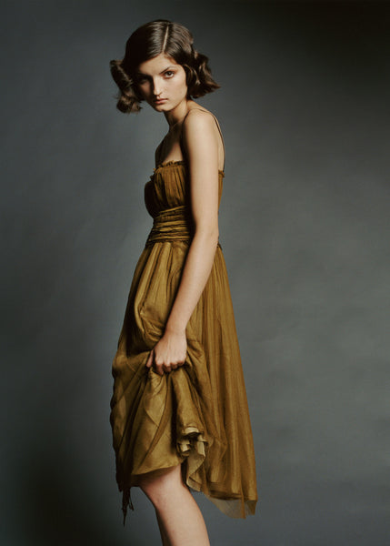 Silk tulle prom dress by La Petite S***** SS2005