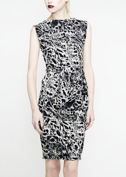 La Petite S Black and white animal print dress