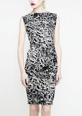 La Petite S Black and white animal print dress  la petite s*****