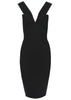 La Petite S Fitted dress with V-Strap in black