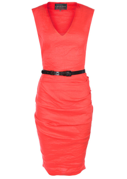 La Petite S Coral vest dress with V-neck