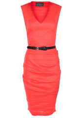 La Petite S Coral vest dress with V-neck  la petite s*****