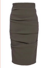 La Petite S pencil skirt in stretch wool - mink la petite s*****
