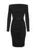 La Petite S - Stretch wool black dress