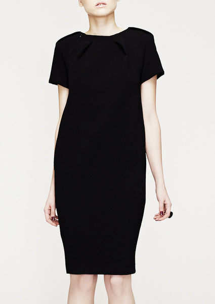 La Petite S black shift dress