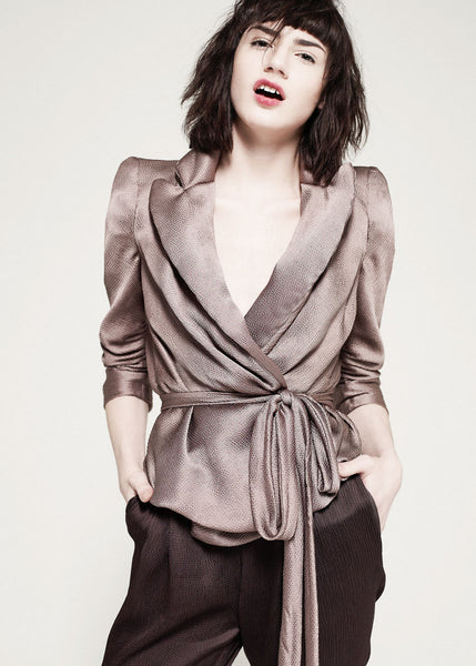 Soft tailored satin jacket by La Petite S***** AW10