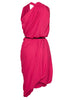 La Petite S fuschia draped dress