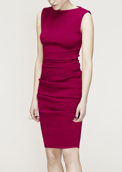 La Petite S vest dress in fuchsia