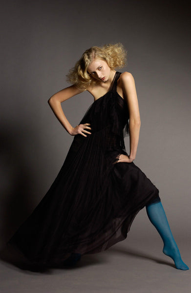Maxi black silk tulle dress by La Petite S***** AW05