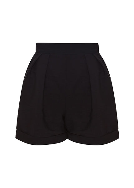 Shorts with crepe silk - back view