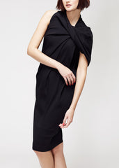 black silk dress with fold detail by La Petite S la petite s*****