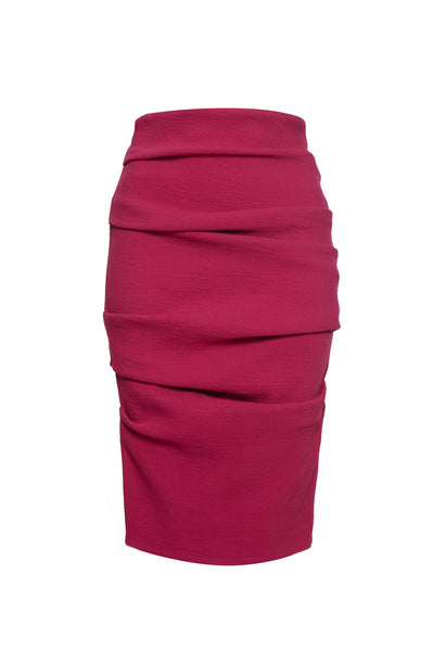 La Petite S fuchsia pencil skirt