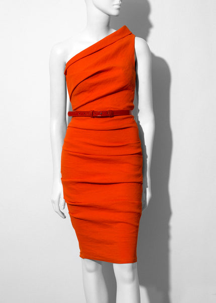 orange La Petite S One shoulder dress