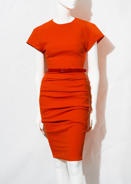 orange La Petite S, cap sleeve dress