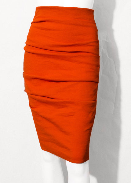 orange La Petite S***** stretch linen pencil skirt