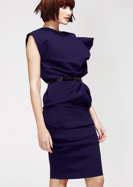 La Petite S***** SS13 indigo stretch crepe silk top and skirt