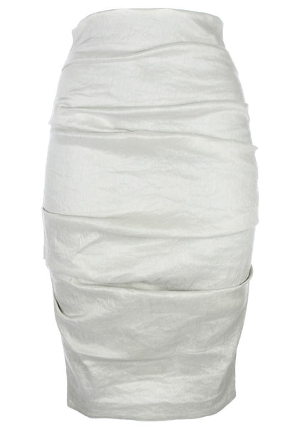 La Petite S stretch linen pencil skirt