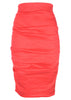 la petite s coral linen pencil skirt