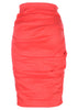 la petite s coral linen pencil skirt - back view