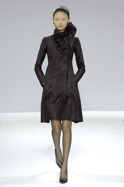 Black taffeta evening coat La Petite S***** AW07