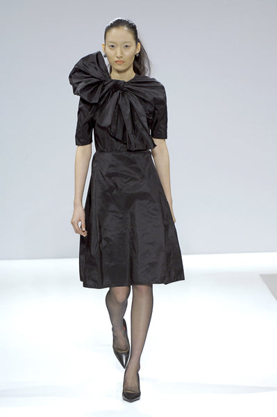 Black taffeta dress with bow La Petite S***** AW07