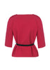 fuchsia jacket back view