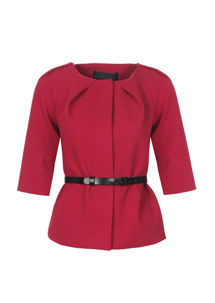 fuchsia la petite s jacket with pleat detail