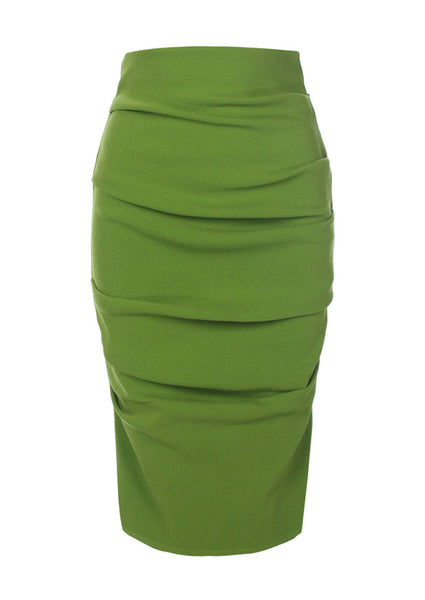 La Petite S Stretch skirt in lime