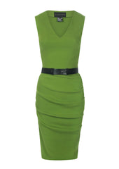 la petite s v-neck vest dress in lime la petite s*****