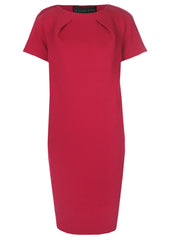 la petite s fuschia shift dress in wool  la petite s*****