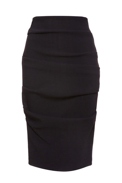 La Petite S stretch pencil skirt in black wool