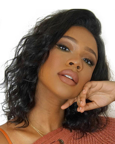Remy Human Hair Body Wave Short Bob 4x4 Lace Closure Wig