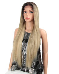 Synthetic Straight Hair 13x4 Lace Frontal Wig