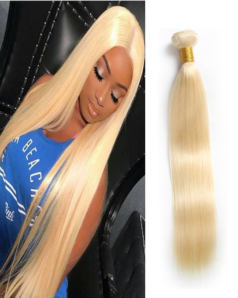 Remy Braziian Straight Human Hair One Bundles 8-30inch 613 Color