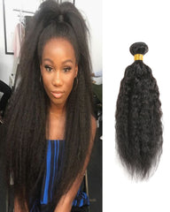 Remy Braziian Kinky Straight Human Hair One Bundles 8-30inch Natural Color