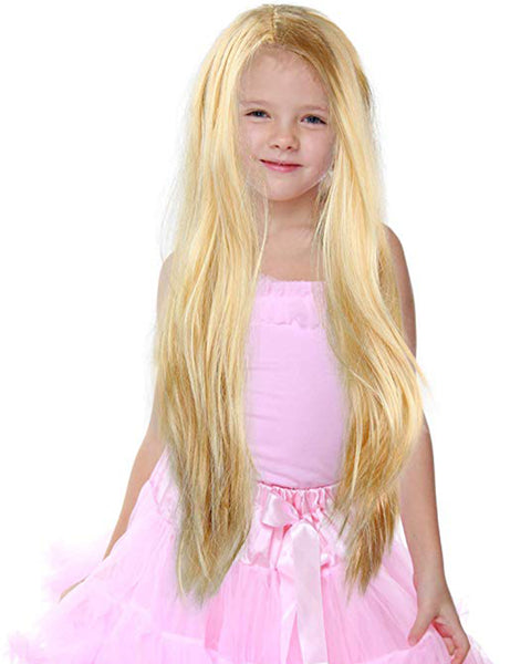 Long Blond Princess Wig Blonde Kids Pretend Play Costume Accessories Princess Wigs for Children