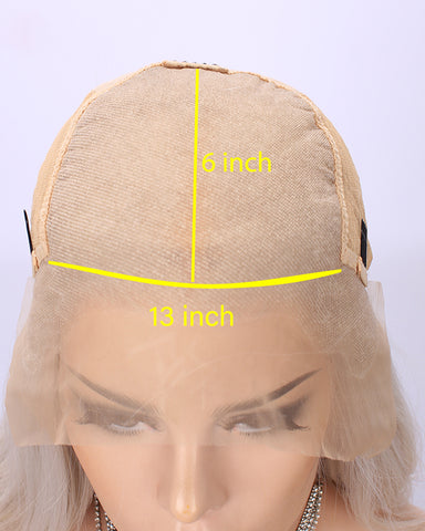 Kanekalon Heat Resistant Fiber 13x6 Lace Front Wigs Glueless Natural Synthetic Straight Hair For Women Blonde Color